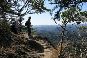 高宕山の山頂手前
